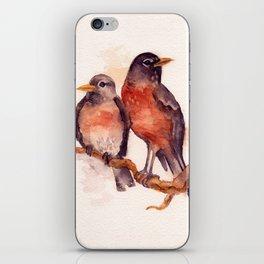 Two Robins iPhone Skin