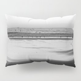 Surfer & Birds Pillow Sham