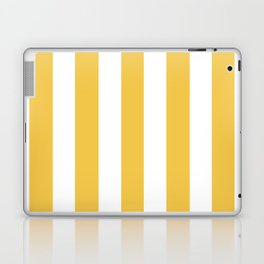 Maize (Crayola) orange - solid color - white vertical lines pattern Laptop & iPad Skin
