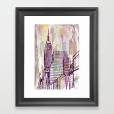 August Rain  Framed Art Print