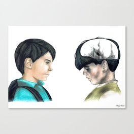 Two children living in the present. Canvas Print