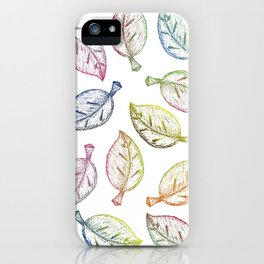 Color leaves iPhone Case