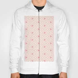 Coral Pink Mini Hexagon and Star Pattern Hoody