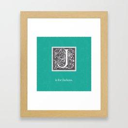 J is for Jackass Framed Art Print