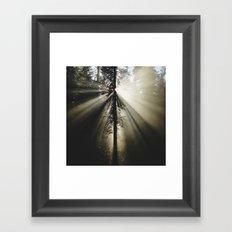 Umpqua Rays Framed Art Print