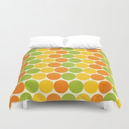 Zesty Polka Duvet Cover