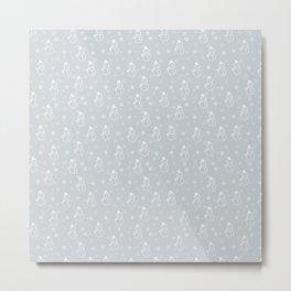 grey snowman Metal Print