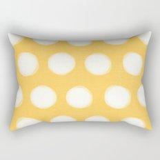 painted polka dots- yellow  Rectangular Pillow