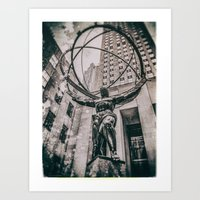 atlas Art Prints featuring Atlas by JAY'S PICTURES