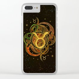 Taurus Zodiac Sign Earth element Clear iPhone Case