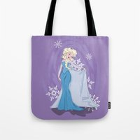 elsa Tote Bags featuring Elsa by LarissaKathryn