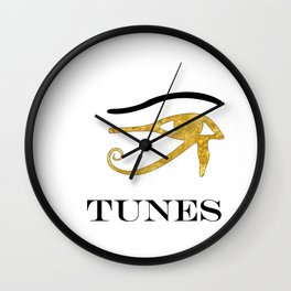 Eye Tunes Wall Clock