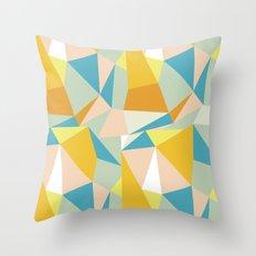 Triangular spectrum Throw Pillow