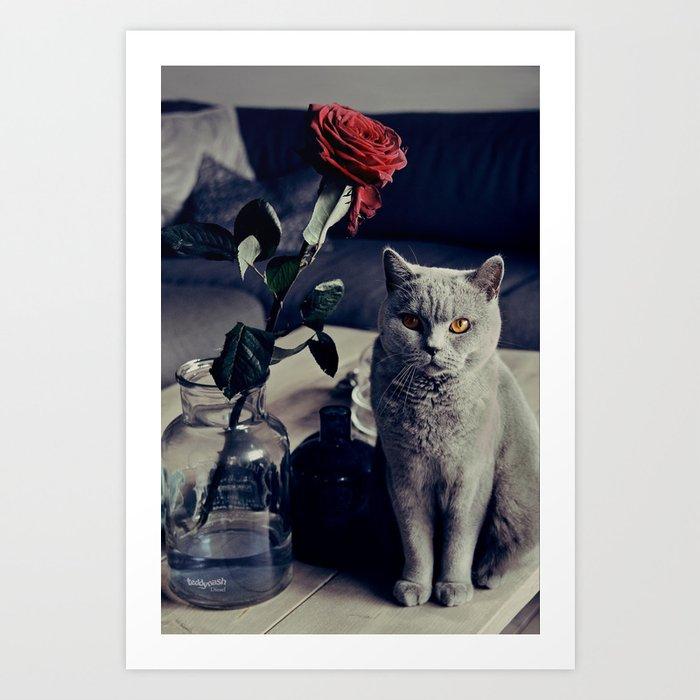 Diesel with rose Art Print