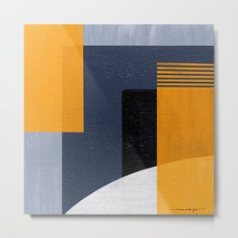 Abstract Geometric Space 1 Metal Print