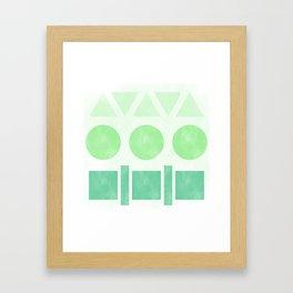 Green Shapes Framed Art Print