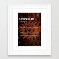 superwholock Framed Art Prints featuring Superwholock by MacGuffin Designs