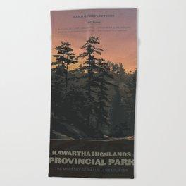 Kawartha Highlands Provincial Park Beach Towel