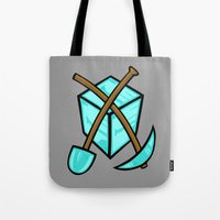 geology Tote Bags featuring It's All About The Diamonds by Artistic Dyslexia