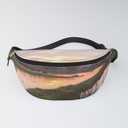 Sunset at swampland Fanny Pack