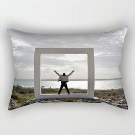 Human and Nature frame Rectangular Pillow
