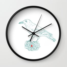 The keeper (crow) Wall Clock