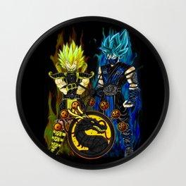Goku & Vegeta in Mortal Combat cosplay colour Wall Clock