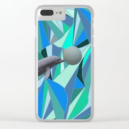 Dolphin Swim Clear iPhone Case