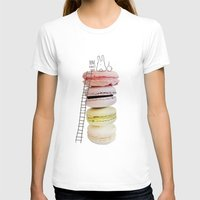 macaron T-shirts featuring Bunny & macarons by Anna Alekseeva kostolom3000