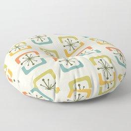 Mid Century Modern Starburst Shells Chartreuse Floor Pillow