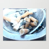 cigarettes Canvas Prints featuring Cigarettes by Beatrice