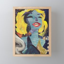 Marilyn Norma Jeane #Pridemonth Collage Portrait Framed Mini Art Print