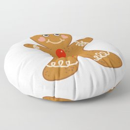 Holiday Gingerbread Man Christmas Cookie Baking Love Floor Pillow