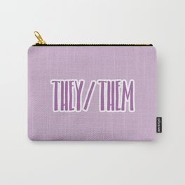 They/Them Pronouns Print Carry-All Pouch