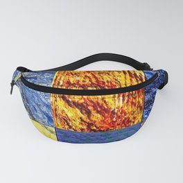 Patchwork color gradient and texture 1 Fanny Pack