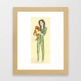 Ellen Ripley with Jones   Alien Framed Art Print
