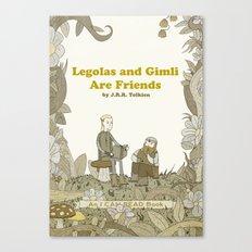 Legolas and Gimli Are Friends Canvas Print