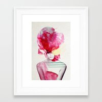 red Framed Art Prints featuring Bright Pink - Part 2  by Jenny Liz Rome