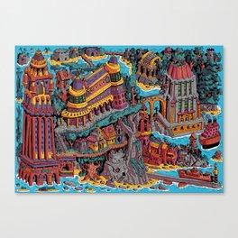 Mumbo Jumbo City (Color) Canvas Print