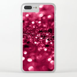 Red Summer Love Glitter #2 #shiny #decor #art #society6 Clear iPhone Case