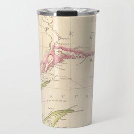 Vintage Map of Lake Superior (1832) Travel Mug