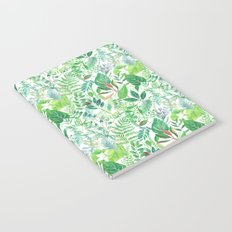 greenery watercolor pattern Notebook