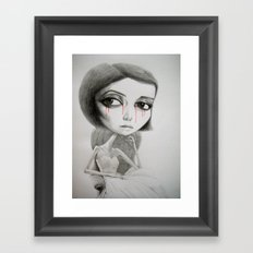 Let it all rain down, from the blood stained clouds. Framed Art Print