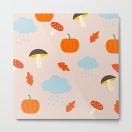 autumn rain Metal Print