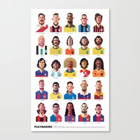 football Canvas Prints featuring Playmakers by Daniel Nyari