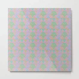Subtle Hypnotic Organic Pattern Metal Print