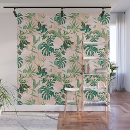 Exotic forest leaves Wall Mural
