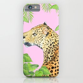 Leopard in Jungle, Transparent Background iPhone Case