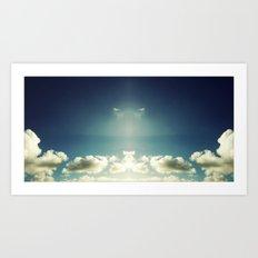 Cloud Mirror Art Print