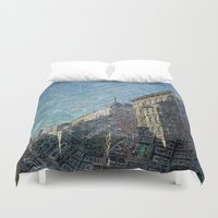 vienna Duvet Covers featuring Vienna on Maps by MehrFarbeimLeben